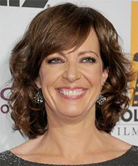 Allison Janney Hairstyle: Formal Medium Wavy Hairstyle