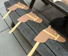 Cowboy and Indian Party Stick Horses or for an outside party, use a smaller version for hand fans.