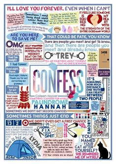 Book Collage based on Confess by Colleen Hoover.If you haven't read this…
