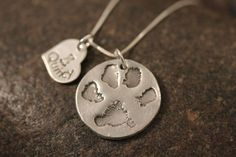 Dog or Cat Paw Necklace made from your Pet's by SayWhatCreations