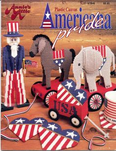 """American Pride 1 of 7 """"have printed""""  there's near 15 pages plastic canvas"""