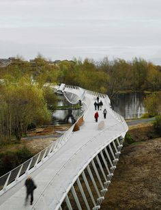 The University of Limerick- Living Bridge in Limerick, Ireland, designed by WilkinsonEyre.