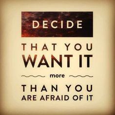 #Decide That You Want It More Than You Are #Afraid Of It. #InstaQuote #QuoteoftheDay #QOTD #Motivation #MotivationalQuotes #Quote #Quotes #Inspiration #SuccessQuotes  #InspirationalQuotes #Inspirational #Inspire #Lesson #Failure #Hustle #DontQuit #WordsofWisdom #SelfHelp #SelfImprovement #PositiveThinking #Entrepreneur #Entrepreneurship #RahulTaneja #Leadership  https://www.rahul-taneja.com