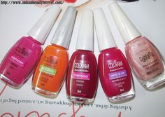 Maybelline Colorama nail paints shades