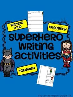 Research and Writing Activities with Superheroes from Third Grade Galore on TeachersNotebook.com (19 pages)  - Writing and research activities centered around superheroes!