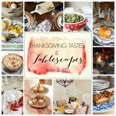 THANKSGIVING TASTES AND TABLESCAPES