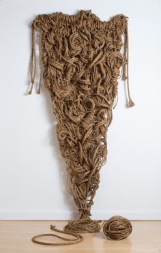 "susan beallor-snyder's rope sculpture ""Going In Circles"""