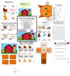 Practically Speeching: The Little Red Hen-awesome activity packet to go with this book covering several skills/topics. Pinned by SOS Inc. Resources.  Follow all our boards at http://pinterest.com/sostherapy  for therapy resources.