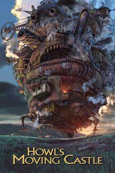 Howl's Moving Castle movie poster Fantastic Movie posters #SciFi movie posters #Horror movie posters #Action movie posters #Drama movie posters #Fantasy movie posters #Animation movie Posters