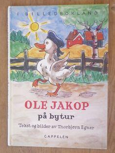 Ole Jakop på bytur - Thorbjørn Egner Cover, Books, Art, Art Background, Libros, Book, Kunst, Performing Arts, Book Illustrations