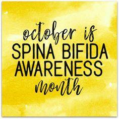 October is spina bifida awareness month - spina bifida awareness graphics