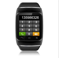 """1.54"""" Bluetooth Smart Wrist Watch Phone Mate For Android iPhone Anti-Lost Black #ZGPAX"""