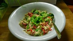 Tupun tupa: Kvinoasalaattia ja paistettua fetaa