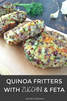 Quinoa fritters with zucchini and feta