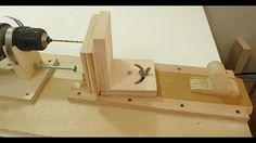 como hacer una fresadora casera con un taladro para madera - YouTube