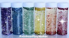 DIY HOW TO MAKE RAINBOW GLITTER JARS! Calming Satisfying Sensory Bottles...