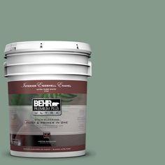 BEHR Premium Plus Ultra 5-gal. #ecc-52-3 Hillside View Eggshell Enamel Interior Paint