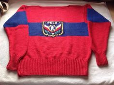 Vintage Ralph Lauren Polo Uni Sweater Knit Very RARE