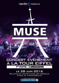Le 28 juin 2016 rendez-vous pour un concert exceptionnel du groupe Muse à la Tour Eiffel à Paris. Une surprise de taille pour tous les fans du groupe britannique qui investira le Champs de Mars quelques jours après....