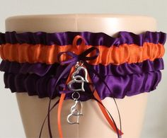Plum Purple and Orange Garter Set                                                                                                                                                                                 More