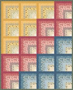 Floral Splendor designed by Robert Kaufman Fabrics. Features Belcourt by Studio RK, shipping to stores December 2016. Pattern will be available to download for #FREEatrobertkaufmandotcom in October 2016.