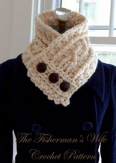 collar scarf (the fisherman's wife crochet pattern).