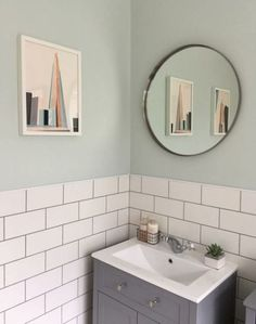 New Bathroom White Tiles Grey Grout Toilets Ideas bathroom 481181541439359324 Grey Grout Bathroom, White Tiles Grey Grout, Metro Tiles Bathroom, Mint Bathroom, Bathroom Wall Colors, Small Bathroom, Light Grey Bathrooms, Bathroom Wall Lights, Family Bathroom