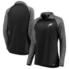 7d1e1197a Women s NFL Pro Line by Fanatics Branded Black Philadelphia Eagles Made To  Move Color Blast Quarter-Zip Pullover Jacket