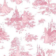 Disney Princess Toile Cotton Fabric