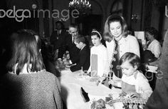 Grace & Family - Princess Grace of Monaco , assisted by her three...