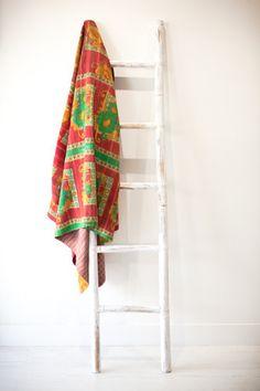 SPRING BREEZE Kantha Quilt, Quilts, Breeze, Ladder Decor, Spring, Vintage, Home Decor, Decoration Home, Room Decor