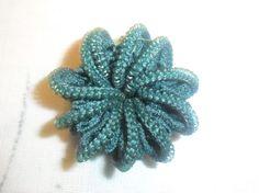 blue zip brooch