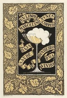 Ex-Libris from Marcelino Nunes Corrêa, created by António de Oliveira Lima in 1933