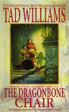 The Dragonbone Chair (Memory, Sorrow and Thorn, #1) by Tad Williams. Fantasy section under W. The first book in the Memory, Sorrow and Thorn trilogy blends the machinations of a king gone mad with the politics of empire in a world of ancient days and the joys and terrors of magic. A quest fantasy in the style of LOTR.