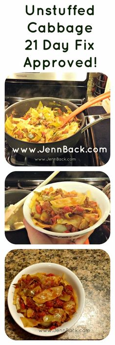 Begin Again: Dream it, Believe it, Achieve it: 21 Day Fix Approved Unstuffed Cabbage Recipe!