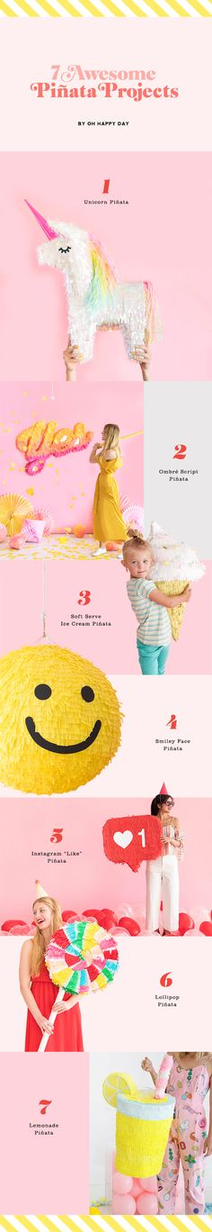 7 Awesome Pinata Projects | Oh Happy Day!