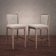 Patterson Beige Linen Counter Stools (Set of 2) | Overstock.com $300/2