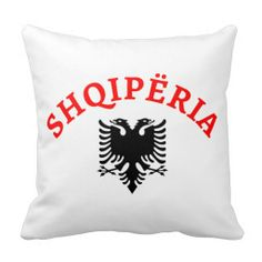 Albania and eagle - Shqiperia dhe shqiponja e flamurit - decorative/ornamental throw pillows - jastëqe dekorative