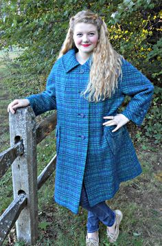 Vintage Outerwear  Cobalt Blue and Emerald by ConstantlyAlice, $56.00