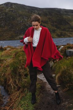 Cashmere & Wool wraps from Triona Design. Stunning two tone fabrics that will last for many years. #cape #wool #tweed #irishfashion #wearingirish #woolshawl Irish Fashion, Cashmere Wrap, Wool Cape, Capes For Women, Wool Fabric, Fit S, One Size Fits All, Shawls, Tweed