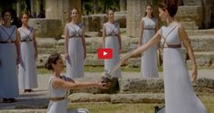 Olympic Flame Lighting Rehearsal Held in Ancient Olympia