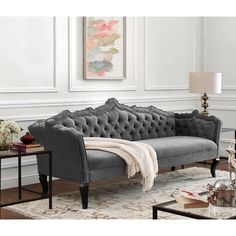 Tov Furniture, Sofas And Loveseat, Tov Furniture Tov Brooks Grey Velvet Sofa furniture living room Sofa Design, Furniture Design, Interior Design, Modern Interior, Furniture Decor, Couch And Loveseat, Sofa Set, Sectional Sofas, Victorian Houses