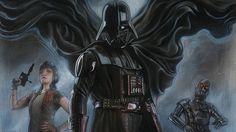 Villain, star wars, Darth vader, art wallpaper