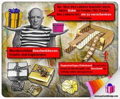 Kreative Geschenke finden & schön verpacken können ist eine Gabe – mit einer schönen #Geschenkbox klappt's auch ohne diese! Diese Grafik stammt von http://www.packanddesign.com/, dem Anbieter edler #Geschenkboxen & anderer hochwertiger Verpackungen.