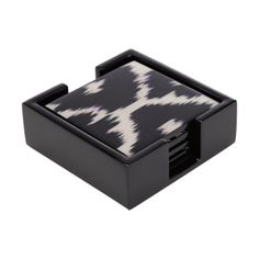 Madeline Weinrib Black Daphne Coasters with Holder at Barneys.com