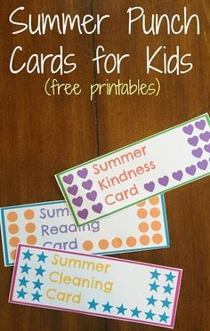 Summer Punch Cards for Kids {Free Printables!} || The Chirping Moms