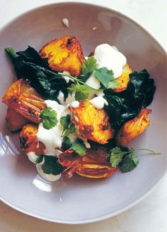Nigel Slater's Potatoes with Spices and Spinach
