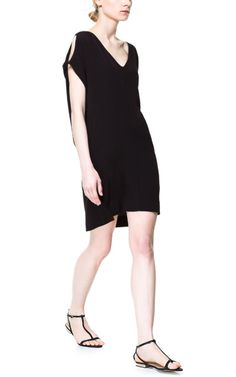 Image 1 of DRESS WITH SHOULDER SLITS from Zara