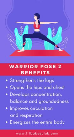 Yoga Warrior Pose 2 has many benefits. Click the link to know some some yoga poses for a beginner. Yoga Poses For Beginners, Workout For Beginners, Yoga Information, Sleep Yoga, Easy Workouts, Yoga Workouts, Yoga For Balance, Warrior Pose, Learn Yoga