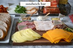 Oscars Party Sandwich Bar